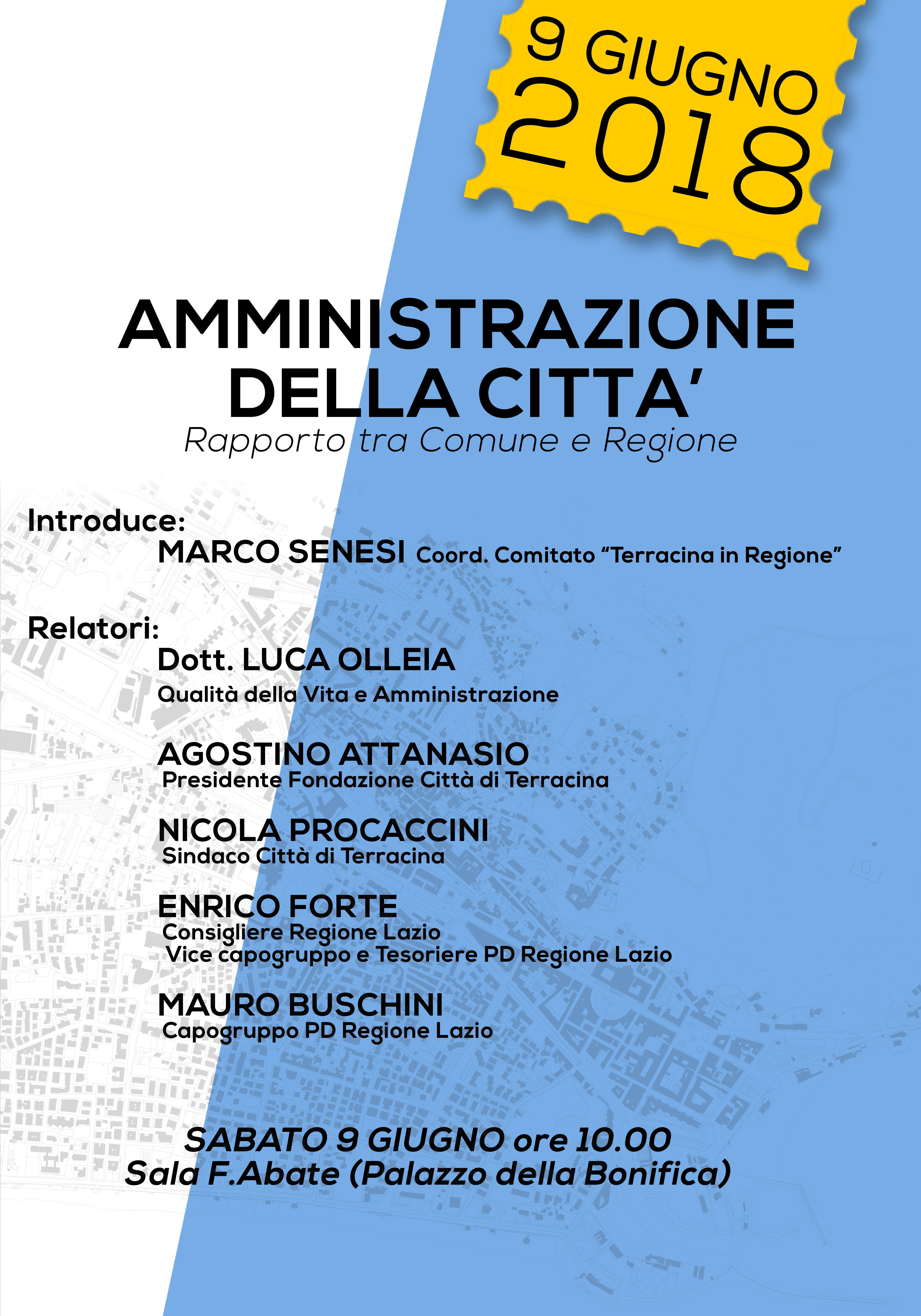 Convegno Amministrazione Della Città Rapporto Tra Comune E Regione